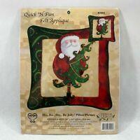 Candamar Designs 2003 Felt Applique Christmas Pillow Picture Kit Santa Be Jolly