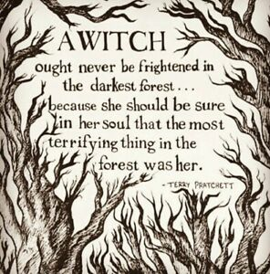 Witch quote pagan wicca wican novelty large double sided keyring bag tag