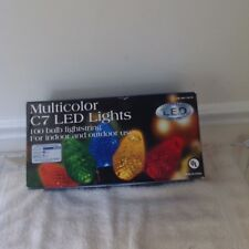 Christmas Forever Bright LED Lights multicolor c7 100 lights