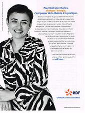 PUBLICITE ADVERTISING 104  2009  EDF  énérgie Mme NATHALIE CHARLES