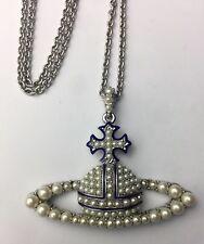 Vivienne Westwood Pearl Necklace Pendant Rare Worn Once Vintage Long Chain