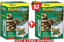 6 Pack Tetra Medium Repto Filter Cartridges Whisper Technology