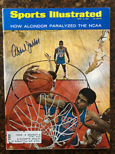 Kareem Abdul Jabbar Signed Autographed Sports Illustrated Magazine Beckett BAS