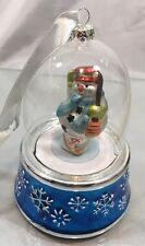 Mr. Christmas Santa Glass Snow Globe Ornament with wind-up music