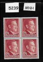 1941 MNH stamp block 24 Gr / Adolph Hitler / Poland Occupation Third Reich WWII