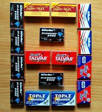130 pc  mixed INDIAN Double Edge Safety DE Razor Blades sample pack