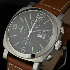 Ticino 44mm SS Automatic Chronograph Diver marina militare style Watch