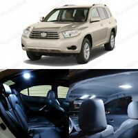 14 x White LED Interior Lights Package For 2008 - 2013 Toyota Highlander + TOOL