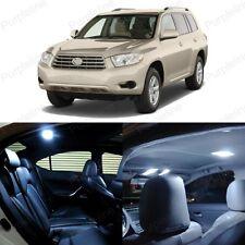 12 x Ultra White LED Interior Light Package For Toyota Highlander 2008 - 2014