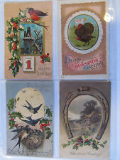 4 Antique Postcards in Plastic Sleeve Dated 1906, Two 1909's & 1914 Excellent