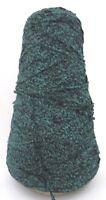 6.5 oz RAYON CHENILLE YARN - #016 BLACK SEA - SEA GREEN/BLACK - 539 YARDS