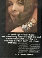 1967 Rare Original Advertising ETERNA MATIC WATCH KON TIKI CENTENAIRE SAVENDAY