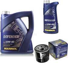 Ölwechsel Set 6L MANNOL Defender 10W-40 Motoröl + SCT Filter KIT 10190674