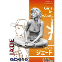 1/24 Jade Girls in Action Resin Model Kits Unpainted GK Unassembled