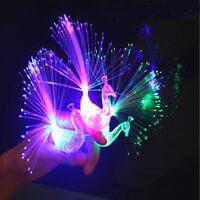 5X Peacock Light Up Finger Ring Laser LED Glow In Dark Stick Party Kids Toys CN