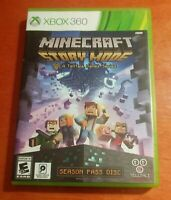 Minecraft Story Mode Season Pass Disc Microsoft Xbox 360 Telltale Games Mojang