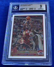 2003-04 TOPPS CHROME #111 LEBRON JAMES RC ~ BGS 9 MINT *GREAT SUBS* .5 from GEM
