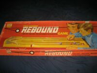Vintage 1971 IDEAL Two-Cushion Rebound Game in Original Box Complete