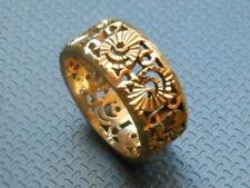 Beautiful Patterned 18 Carat Yellow Gold Ring