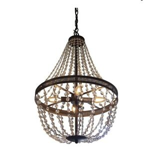 Harlow Orb and Crystal Chandelier Decor TherapyModel: CH1845