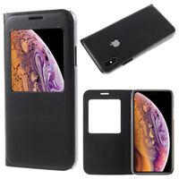 """Etui Housse View Case Flip Folio Leather NOIR pour Apple iPhone XS (2018) 5.8"""""""