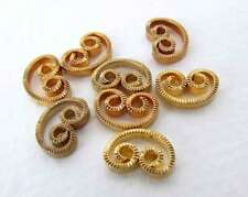 Vintage Brass Connector Heart Charm Scroll Gold Filigree Finding 9x6mm