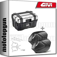 GIVI TOP CASE BLACK TRK46N + VALISES LATERALES V37NNT HONDA CB 500 X 2018 18