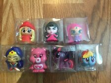 Mixed Lot of 7 Display Fashems Mashems Monster, Care, Pony, DC, Barbie, Shimmer