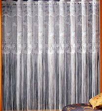 Gardine Store Fadengardine Fadenvorhang weiß bunt Vorhang Bordüre Schwalbe Typ17
