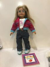 American Girl Pleasant Doll Blond Hair Blue Eyes Round Glasses Ready For Fun