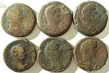 Lot of 6 Ancient Greek to Identify 32mm Bronze