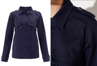 John Lewis Women's Blue June Short Trench Coat - UK SIze 10 RRP £89 - BNWT