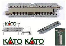 KATO 20-050 N.1 BINARIO con MASSICCIATA ALLUNGABILE da mm.78 a mm.108 in SCALA-N