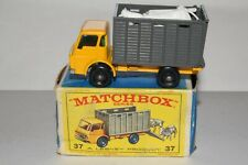 MATCHBOX LESNEY #37C DODGE CATTLE TRUCK, YELLOW, BPW, EXCELLENT, BOXED TYPE E #2