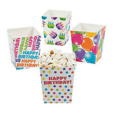 Pack of 12 - Happy Birthday Popcorn Boxes -  Party Box Favors