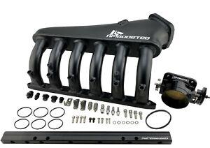 Billet Intake Manifold w/ Fuel Rail kit + 90mm Throttle Body for M50 S50 M52 S52