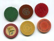 New listing 6 Dif Cuban Gambling Chips /Artistic Gallega/St.John'S Roulette Club Union Etc
