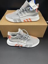 Adidas EQT Basket ADV AC7351 Grey Coral Knit Athletic Shoes Womens Size 9=Mens 8