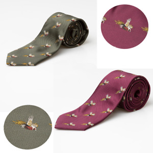 Rydale Pheasant Shooting Tie Country Game Bird Hunting Ties 2 Colours