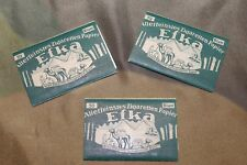Lot of Three Original WW2 German Efka Cigarette Rolling Papers Packs, Unissued