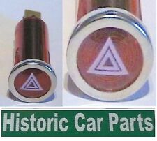 """Red Warning Light with """"Hazard Lights On"""" Icon 1960-80s period Dashboard"""