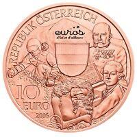 """Pièce 10 euros commémorative Autriche 2016 en cuivre """"Autriche"""" - Nouveauté"""