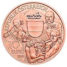 """Moneta 10 euro commemorativa Autriche 2016 in rame """"Autriche"""" - novità"""