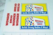 Banner Wonder Bread Delivery Van Truck Replacement Sticker Set BN-007