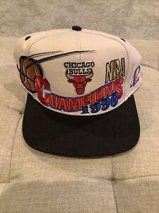 Chicago Bulls 1996 NBA Champions Locker Room Hat Snapback NWOT Logo Athletic Cap