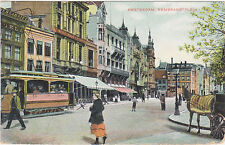 Amsterdam,Netherlands,Rembrandtplein,Trolley Car,Used,German Stamp,Coln,1908