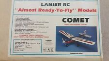 LANIER RC COMET Almost Ready to Fly Model Airplane Kit 74105