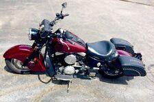 Saddleline Kawasaki Drifter 1500 leather saddlebags Lockable Brand new.