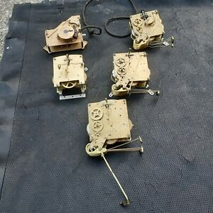 smiths clock movements x 5  spares/repair offered as collectables