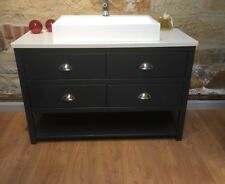 1200mm Painted Bathroom Vanity Unit  Wash Stand  Any Colour Solid surface top